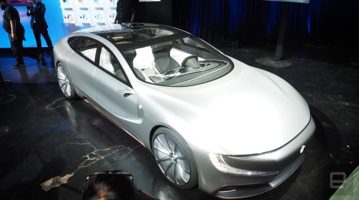 Conceptul LeEco LeSEE se lasă admirat în cadrul unui eveniment din San Francisco; automobilul va fi inclus în noul film Transformers