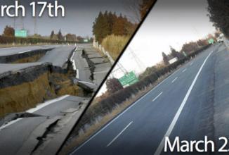 Iată cum se repară străzile în Japonia după un cutremur dezastruos
