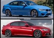 Noua Alfa Romeo Giulia Quadrifoglio Verde este comparată în imagini cu BMW M3