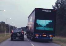 Samsung propune o nouă tehnologie ce ajută la depăşirea camioanelor sale: Samsung Safety Truck (Video)