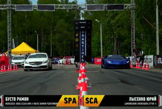 Un Mercedes CLS 63 AMG se ia la întrecere cu un Lamborghini Aventador; Iată cine câştigă! (Video)