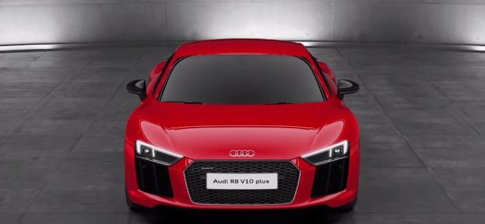 Audi R8 V10 Plus cu faruri laser