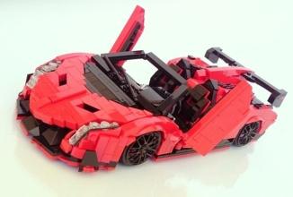 Lamborghini Veneno apare în sfârşit într-o versiune pe care ne-o permitem cu toţii: cea LEGO