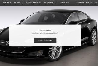 Tesla oferă reduceri clienţilor care îi promovează automobile şi le aduc noi clienţi