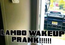 """Cea mai bună """"alarmă de trezire"""" pentru un pasionat de automobile: un Lamborghini care îţi """"rage"""" în cap (Video)"""