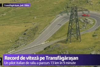 Un pilot italian obține recordul de viteză pe Transfăgărașan; 13 km de serpentine parcurși în mai puțin de 10 minute