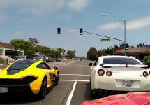 Un McLaren P1 provoacă un Nissan GT-R tunat la o cursă la semafor; Mare greşeală! (Video)