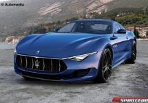 Maserati Alfieri primește o randare 3D; poate cel mai atractiv coupe al momentului