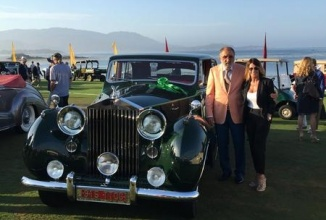 Ion Țiriac este premiat la Concursul de eleganță Pebble Beach pentru modelul Rolls-Royce Phantom din 1952 aflat în colecția personală