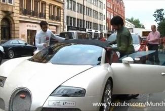Bugatti Veyron Grand Sport și un plafon buclucaș fac senzație pe internet