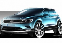 Volkswagen oferă primele teasere pentru noul SUV Tiguan, sub formă de schiţe de design