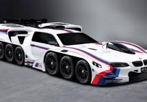 Conceptul unui băiat de 4 ani devine un automobil BMW monstruos, cu 19 motoare şi 42 de roţi
