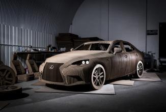 Lexus realizează un automobil electric din 1700 de bucăţi de carton tăiate cu laserul (Video)