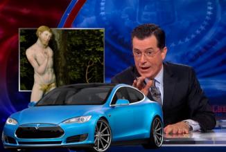 Tesla primeşte susţinerea lui Stephen Colbert în cadrul unui amplu segment în talk show-ul său (Video)