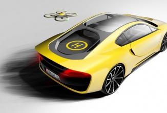 Rinspeed dezvăluie un concept de vehicul sportiv autonom; vine și cu o dronă la pachet