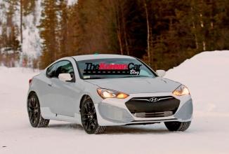 Modelul Hyundai Genesis Coupe Twin Turbo cu tracțiune integrală, apare în fotografii spion