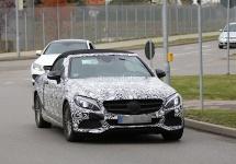 Noul Mercedes-Benz C-Class Cabriolet apare în fotografii spion, însoțit de un plafon textil