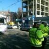 Galerie foto accident între un tramvai și o betonieră