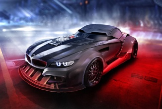 Personajele din Star Wars sunt reinterpretate sub formă de automobile sport de top: BMW Z4 e Darth Vader, Alfa Romeo Giulia devine Stormtrooper