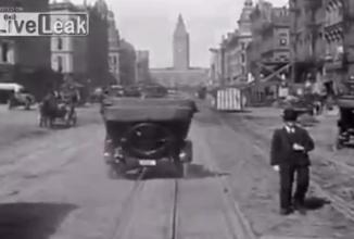 Cum se circula cu 105 ani în urmă în San Francisco: haos total, dar şi mult… stil (Video)