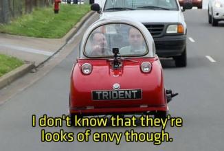 Peel Trident candidează cu mare succes la titlul de cel mai slab automobil produs vreodată… e un vehicul ucigător (Video)