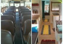 Viaţa într-un autobuz al şcolii: de la mijloc de transport învechit la o locuinţă pe roţi