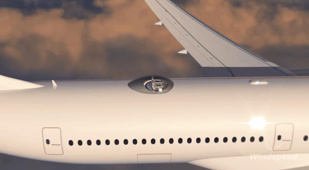avion scaune sus