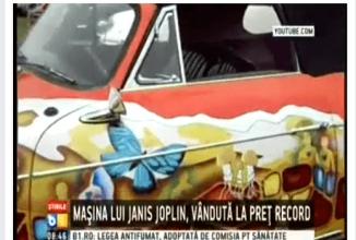 """Maşina lui """"Ianis Joplin"""" debusolează o ştire de la B1 TV, cu o gafă cu înjurături la pachet (Video)"""