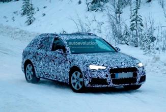 Audi A4 2016, noul Allroad Quattro fotografiat în camuflaj şi pe zăpadă