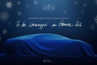 Bugatti Chiron primeşte un teaser sub formă de felicitare de Crăciun, gata de debut la Salonul Auto de la Geneva