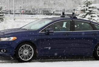 Ford îşi testează vehiculele autonome şi pe zăpadă, provocarea creşte (Video)