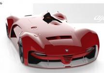 Modelele clasice Alfa Romeo de curse primesc un tribut foarte arătos, sub forma lui Trionfo