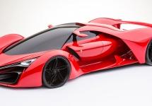 Ferrari F80 este un concept SF perfect realizabil, ca un soi de LaFerrari al deceniului viitor