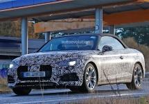 Imagini spion cu 2017 Audi A5 Convertible ajung astăzi pe web; modelul ar putea fi anunțat în vară