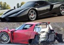 Un Ferrari Enzo negru reconstruit se vinde la preţul de 1.75 de milioane de dolari la licitaţie