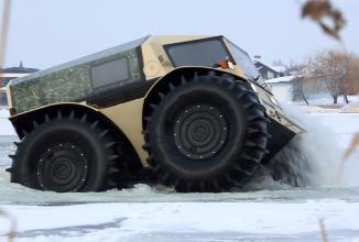 Ruşii au creat un mega vehicul offroad, care poate supravieţui în orice condiţii, chiar şi apocaliptice: Sherp (Video)