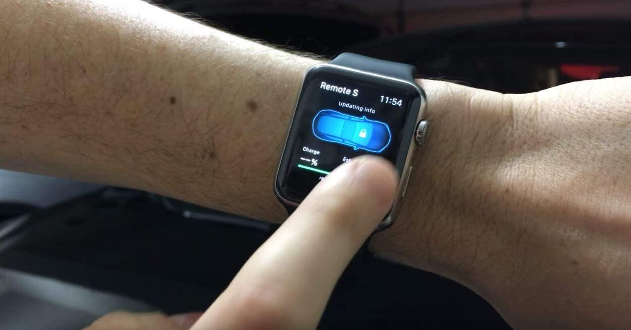 tesla remote watch