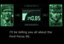 Ford Focus SE primeşte un video promoţional sub forma unor secvenţe din jocul Metal Gear Solid (Video)