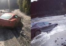 """Modele Ferrari şi Maserati sunt trecute prin """"focurile"""" offroad-ului în China (Video)"""