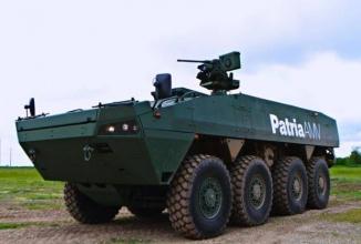 Patria AMV este un vehicul blindat de transport ce ar putea fi fabricat în România, sub tutelaj finlandez