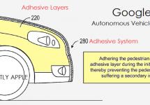 Google brevetează un nou sistem de prevenire a accidentelor pentru automobile autonome, pe bază de… lipici