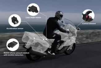 BMW implementează primul sistem inteligent de urgenţă pentru motociclete