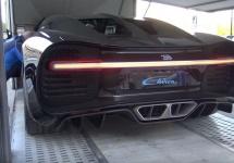 Un Bugatti Chiron ne încântă cu sunetele nervoase ale motorului său, la pornire şi schimbare de viteze (Video)