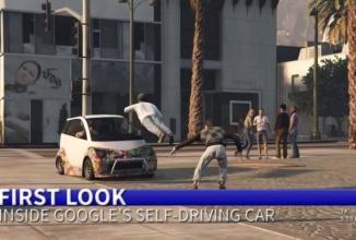 Maşina autonomă Google ajunge în GTA V şi calcă pietoni la greu… într-o parodie evident (Video)