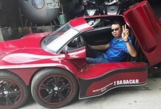 O supermaşină compactă din Vietnam transformă bucăţi de maşini casate într-o ciudăţenie pe 5 roţi