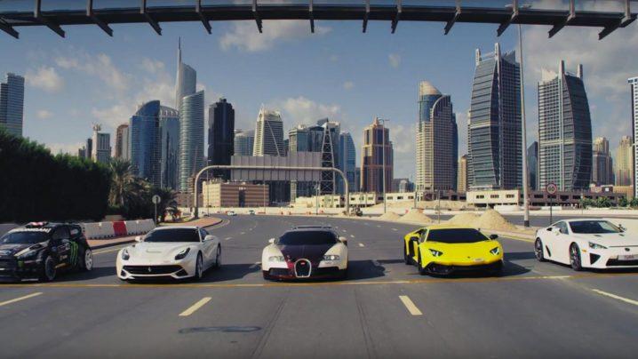 KEN-BLOCK-GYMKHANA-8-DUBAI-Ultimate-Exotic-Playground-sideways-drifting-tricks-Donut-drag-race-Veyron-Ferrari-F12-Lexus-LFA-Lamborghini-Aventador-AWD-Ford-Fiesta-5