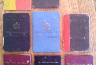 Iată unele dintre cele mai vechi permise de conducere din România, într-o colecţie de epocă