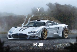 Tesla Model R este un concept fantastic de hypermaşină, care se va duela cu modelele Porsche high end