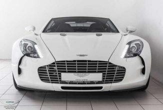 """Un Aston Martin One-77 de colecţie e acum de vânzare contra """"modicei"""" sume de 3.2 milioane de dolari"""