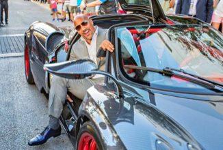 Celebrul actor/wrestler The Rock a avut probleme să încapă într-un Pagani Huayra, la filmările serialului HBO Ballers